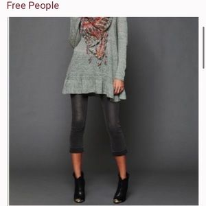 Free People Faded Black Cropped Pants